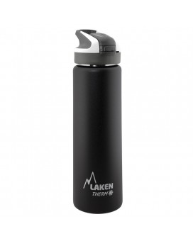BLACK INSULATED 18/8 STAINLESS STEEL 0,75L WIDE-MOUTH SUMMIT BOTTLE