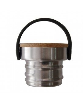 BAMBOO AND STAINLESS STEEL CAP FOR BASIC STEEL BOTTLES