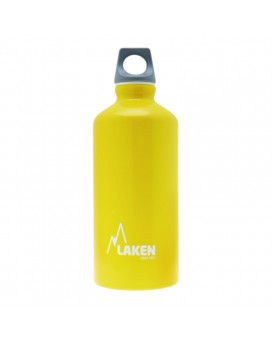 YELLOW 0.60L ALUMINIUM DRINKING BOTTLE FUTURA (NARROW MOUTH)
