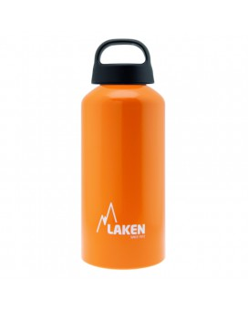 Orange Aluminium drinking bottle CLASSIC 0,6L