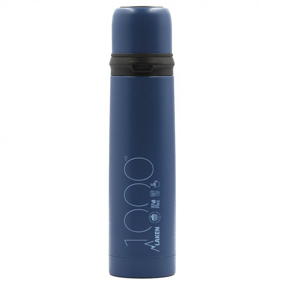 INSULATED STAINLESS STEEL BLUE BOTTLE 1L WITH CAP-MUG