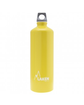 YELLOW 1L ALUMINIUM DRINKING BOTTLE FUTURA (NARROW MOUTH)