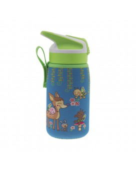 TRITAN BOTTLE 0.45L WITH SUMMIT CAP AND BAMBINOS NEOPRENE COVER