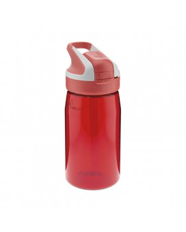 RED TRITAN BOTTLE 0.45L SUMMIT CAP (WIDE MOUTH)