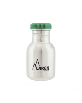STAINLESS STEEL BOTTLE 0,35L GREEN CAP