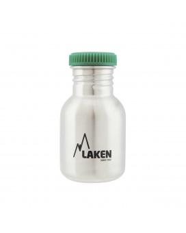 Basic Steel bottle 350ml green cap