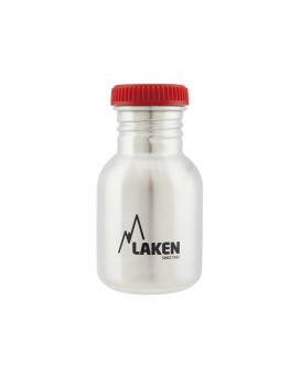 STAINLESS STEEL BOTTLE 0,35L RED CAP