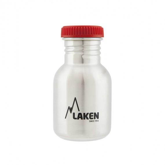 Botella Laken de Acero Inoxidable 0,35L. Tapón Rojo