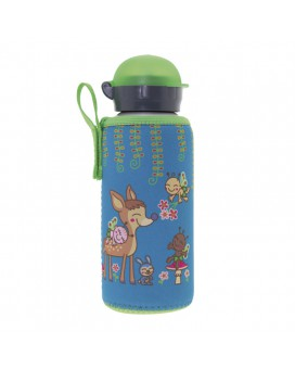 ALUMINIUM BOTTLE FOR KIDS 0.45L WITH BAMBINOS NEOPRENE COVER