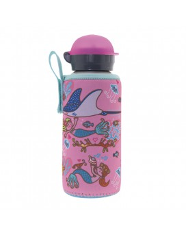 ALUMINIUM BOTTLE FOR KIDS 0.45L WITH SIRENAS NEOPRENE COVER
