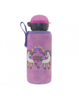 ALUMINIUM BOTTLE FOR KIDS 0.45L WITH UNIC NEOPRENE COVER