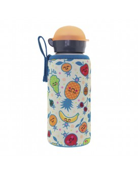 ALUMINIUM BOTTLE FOR KIDS 0.45L WITH FRUITUTITOS NEOPRENE COVER
