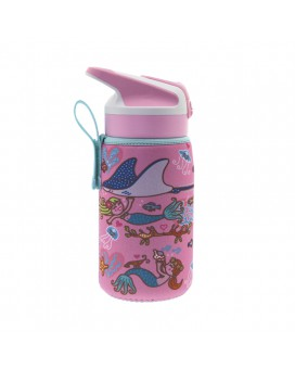 TRITAN BOTTLE 0.45L WITH SUMMIT CAP AND SIRENAS NEOPRENE COVER