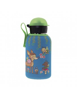 STAINLESS STEEL THERMO BOTTLE 0.35L HIT CAP WITH BAMBINOS NEOPRENE COVER