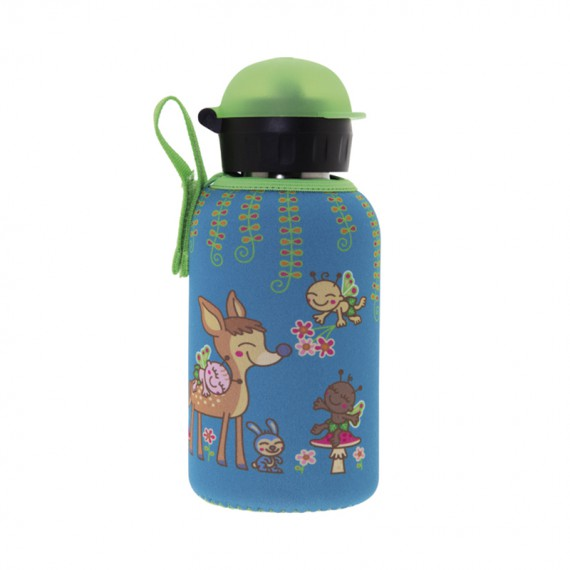 STAINLESS STEEL THERMO BOTTLE 0.35L HIT CAP WITH EGUZKITAN NEOPRENE COVER