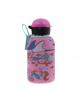 STAINLESS STEEL THERMO BOTTLE 0.35L HIT CAP WITH SIRENAS NEOPRENE COVER