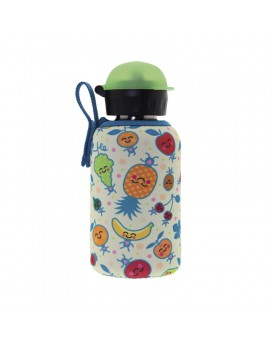 STAINLESS STEEL THERMO BOTTLE 0.35L HIT CAP WITH FRUITUTITOS NEOPRENE COVER