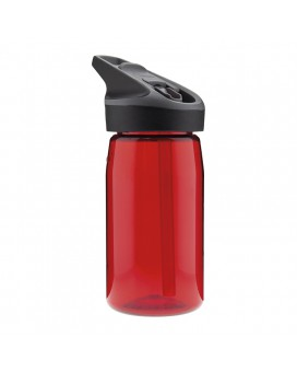 RED TRITAN BOTTLE 0.45L JANNU CAP (WIDE MOUTH)