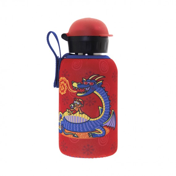 STAINLESS STEEL THERMO BOTTLE 0.35L HIT CAP WITH NEOPRENE COVER