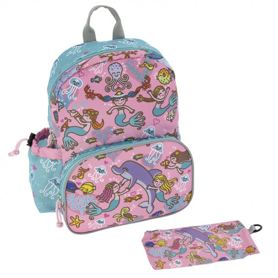 BACKPACK WITH INSULATED FRONT POCKET
