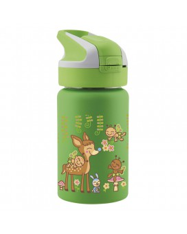 BAMBINOS STAINLESS STEEL THERMO BOTTLE 0.35L SUMMIT CAP