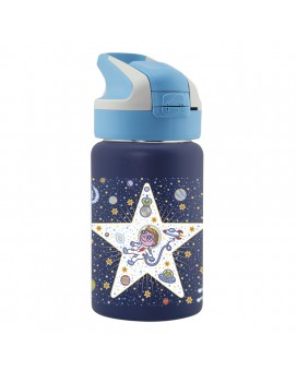 BOTELLA INFANTIL TÉRMICA DE ACERO INOXIDABLE SPACE ODDITY 0,35 L TAPÓN SUMMIT