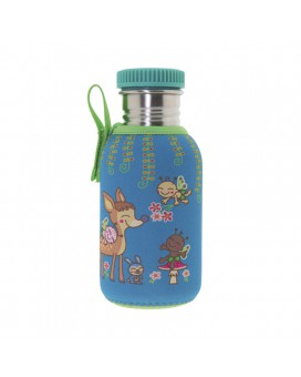 STAINLESS STEEL BOTTLE 0.5L WITH BAMBINOS NEOPRENE COVER