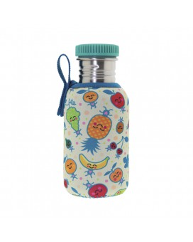 STAINLESS STEEL BOTTLE 0.5L WITH FRUITUTITOS NEOPRENE COVER