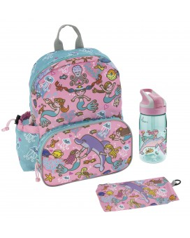 LARGE BACKPACK AND BOTTLE SET