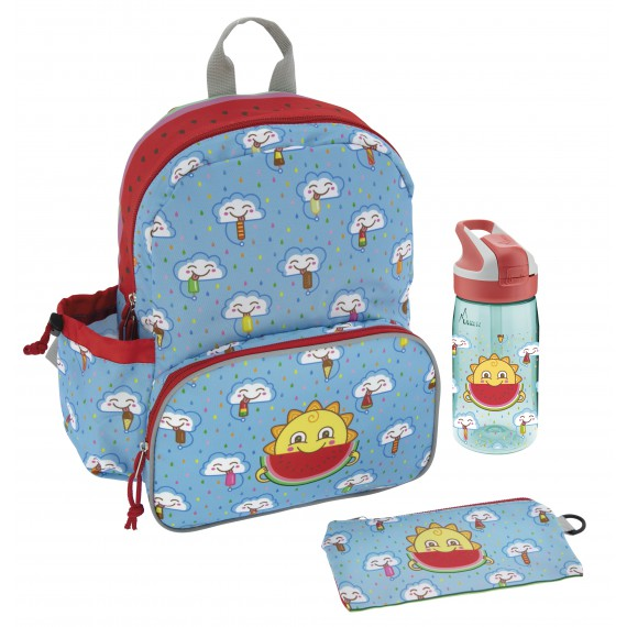 LARGE BACKPACK AND TRITAN BOTTLE FRESKITO SET