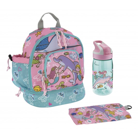 SMALL BACKPACK AND TRITAN SUMMIT BOTTLE SIRENAS SET