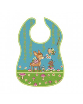 BAMBINOS WATERPROFOF BIB WITH FOLD OUT POCKET