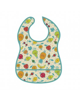 FRUITUTITOS WATERPROOF BIB WITH FOLD OUT POCKET