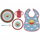 FRESKITO MELAMINE TABLEWARE AND WATERPROOF BIB SET