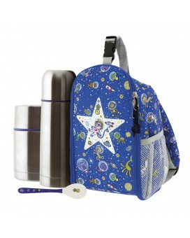 KOSMOS INSULATED BACKPACK, 0.5L THERMO LIQUIDS FLASK, 0.5L THERMO FOOD FLASK AND SPOON SET