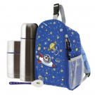 ASTRO BABY INSULATED BACKPACK, 0.5L THERMO LIQUIDS FLASK, 0.5L THERMO FOOD FLASK AND SPOON SET