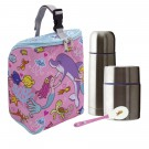 SIRENAS INSULATED BAG, 0.5L THERMO FOOD FLASK, 0.35L THERMO LIQUIDS FLASK AND SPOON SET