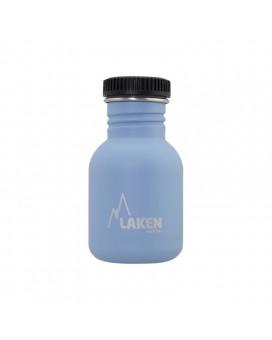 BLUE BASIC STEEL BOTTLE 0,35L BLACK CAP