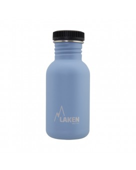 BASIC STEEL BOTTLE 0,50L BLACK CAP