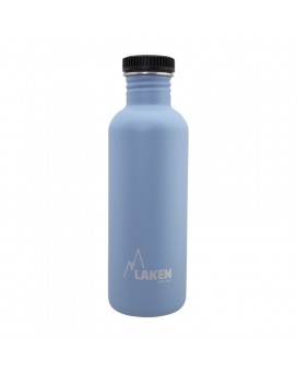 BLUE BASIC STEEL BOTTLE 1L BLACK CAP