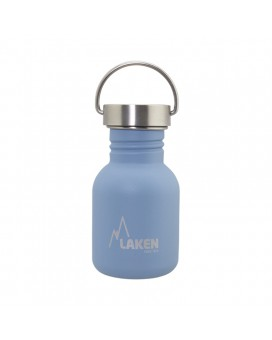 BLUE BASIC STEEL BOTTLE 0.35L STAINLESS STEEL CAP