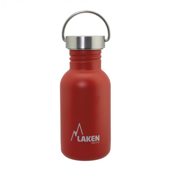 RED BASIC STEEL BOTTLE 0,50L STAINLESS STEEL CAP