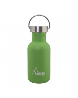 GREEN BASIC STEEL BOTTLE 0,50L STAINLESS STEEL CAP