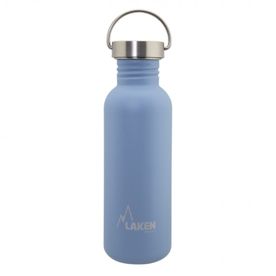 BLUE BASIC STEEL BOTTLE 0.75L STAINLESS STEEL CAP