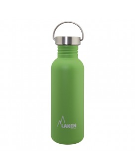 GREEN BASIC STEEL BOTTLE 0.75L STAINLESS STEEL CAP