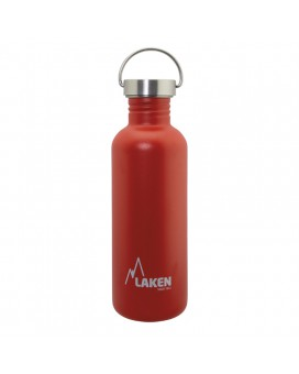 RED BASIC STEEL BOTTLE 1L STAINLESS STEEL CAP