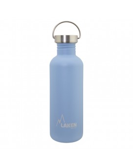 BLUE BASIC STEEL BOTTLE 1L STAINLESS STEEL CAP