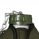 POLYPROPILENE CAP WITH CHAIN FOR ALUMINIUM CANTEEN WITH FELT COVER
