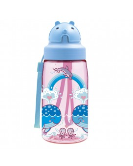 TRITAN BOTTLE LOVE WHALES 0,45L WITH OBY CAP
