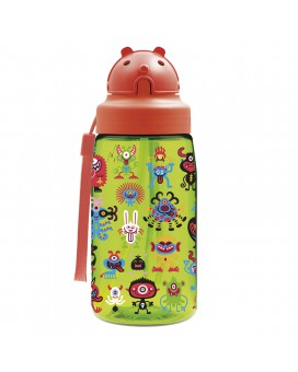 PEKEMONSTERS TRITAN 0,45L BOTTLE WITH OBY CAP